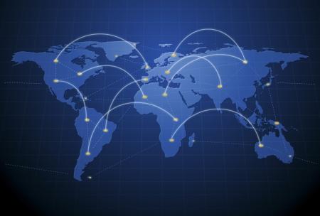 conectividad: Ilustraci�n digital del concepto de red humana