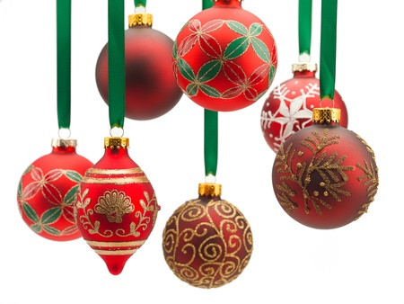 Christmas decoration displayed over white background. Stock fotó