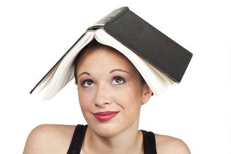 The concept shot shows a confused expression of studying. Stock Photo - 15600287