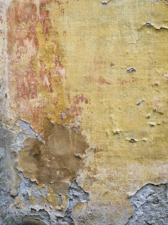 Vertical image of a wall with cracked paint in Tuscany, Italy Stock Photo - 15543267