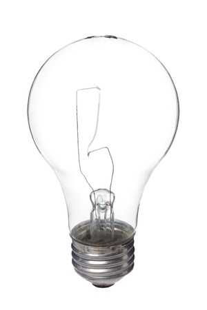 electric bulb: Vertical image of electric Light bulb against the white background