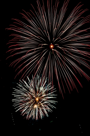 Closeup of fireworks Stock Photo - 15543138