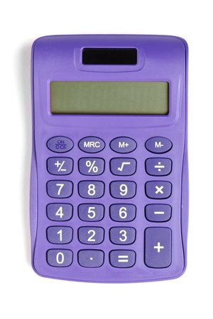 Image of violet calculator isolated on white background Stock Photo - 15543166