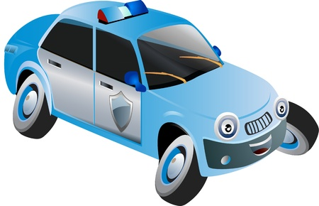 Cartoon vector of a police vehicle  photo