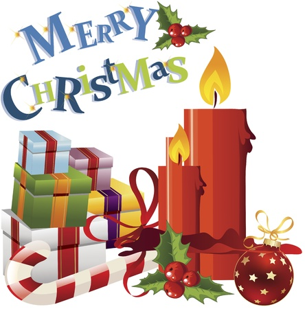 christmas greeting: Christmas greeting card clip-art