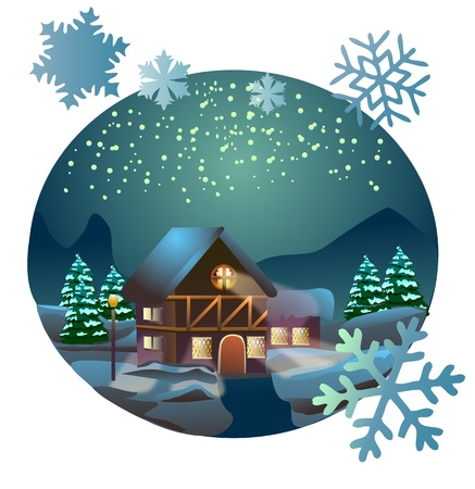 Vector illustration of Christmas time