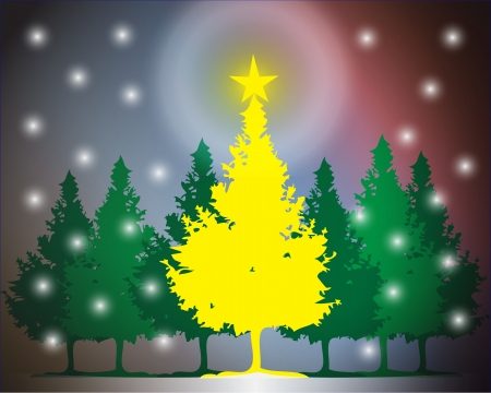 Clip art image of a Christmas tree with star on top Stock Photo - 15616928