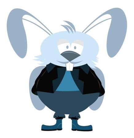 Clip art illustration of a funny rabbit