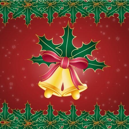 christmas bells: Clip art image of Christmas bells wallpaper Stock Photo