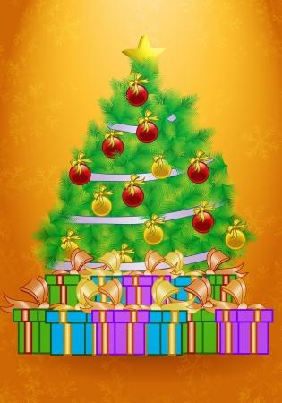 Clip art image of Christmas present wallpaper Stock Photo - 15617004