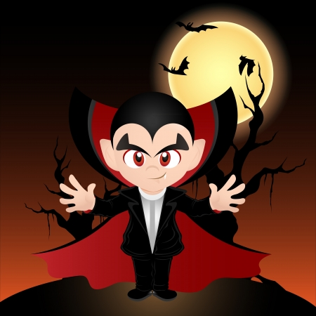 Vector illustration of Count Dracula  illustration