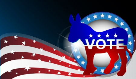democratic donkey: Vector illustration of a donkey as a symbol of the democratic country