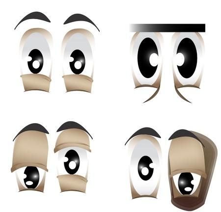 目の異なる形状のベクトル イラスト