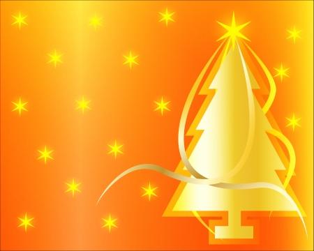 Vector illustration of golden Christmas background Stock Illustration - 15616841