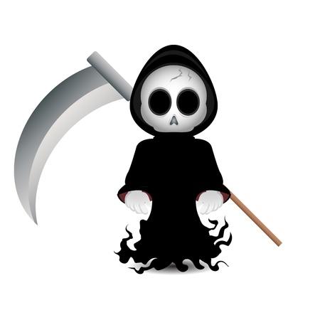 scythe: Lindo parca clip-art para Halloween