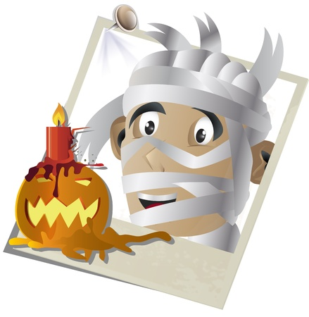 Vector illustration of Halloween concept snapshot  版權商用圖片