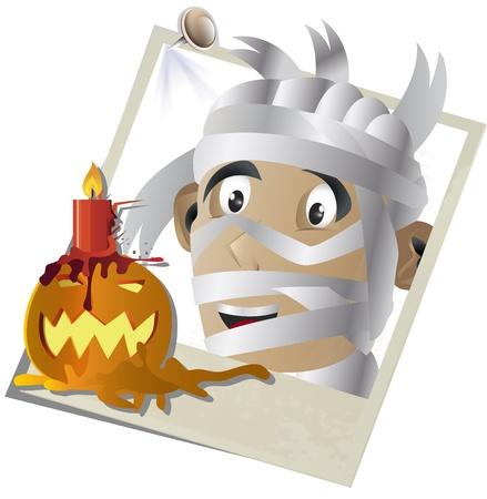 halloween concept: Vector illustration of Halloween concept snapshot  Stock Photo