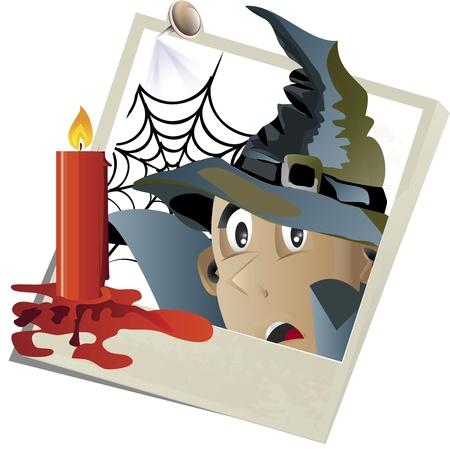Vector illustration Halloween snapshot 版權商用圖片