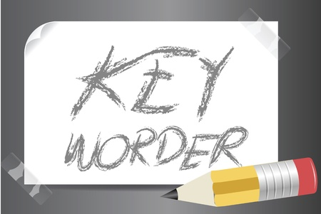 Keyworder in SEO business concept Stock Photo - 15606992