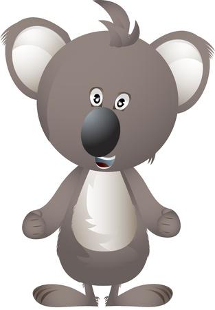 Clip art illustration of koala bear