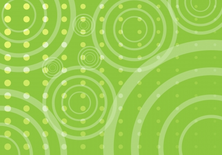 Horizontal image of a printed green background on a vector image