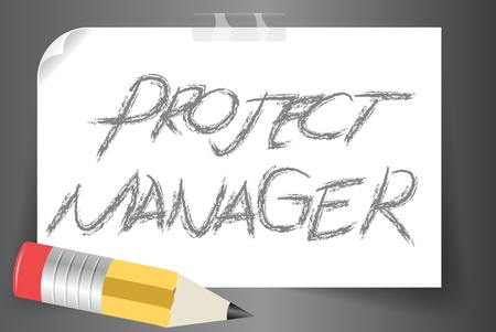 Vector illustration of Project manager in sketch concept