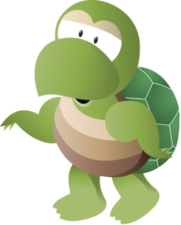 Vector illustration of turtle illustration