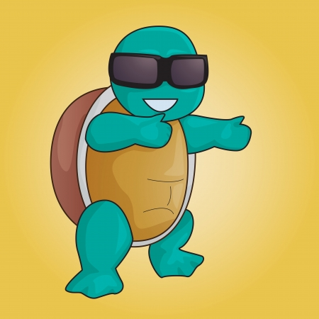 coldblooded: Vector illustration of a fashionable turtle with shades