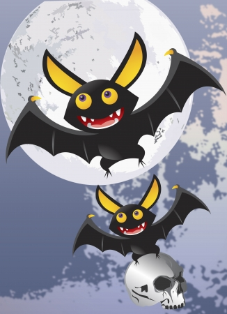 Vampire bats Halloween poster vector  photo