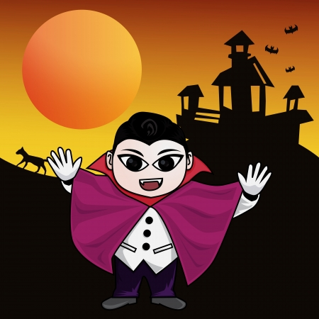 undead: Clip-art vampire for Halloween celebration