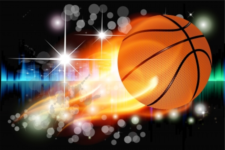 Vector illustration of abstract background with basketball illustration