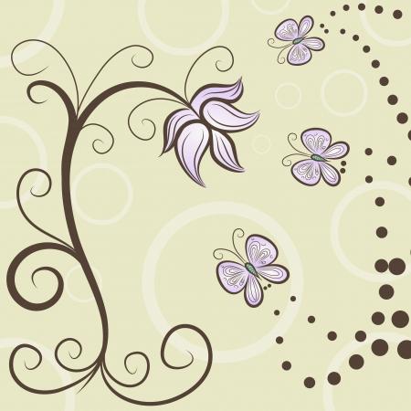 Vector illustratie van de achtergrond met bloem motief