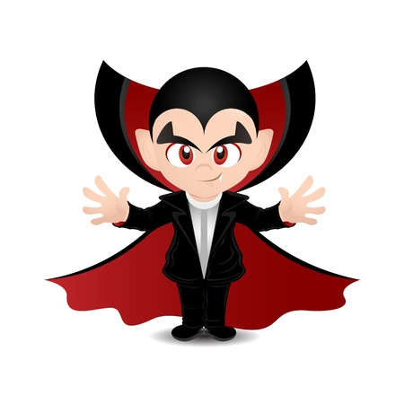cartoon vampire: Vector illustration of a scary dracula Stock Photo
