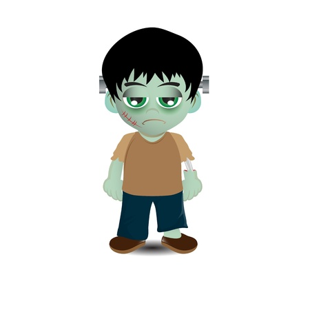 Cute Frankenstein vector image photo