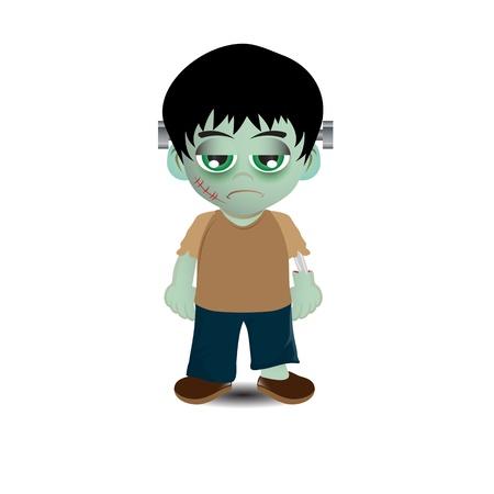 dumb: Cute Frankenstein vector image Stock Photo