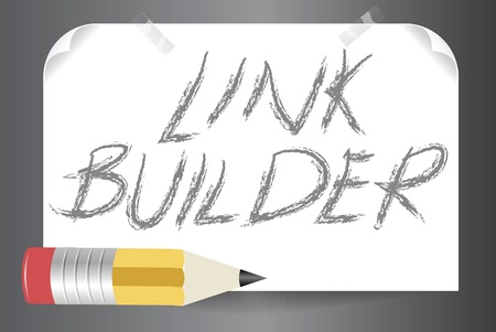 Vector illustration of  a link builder, one of the tools at SEO optimization illustration