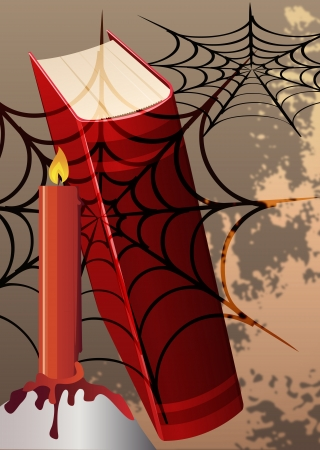 Vector illustration of poster with Halloween themed Imagens