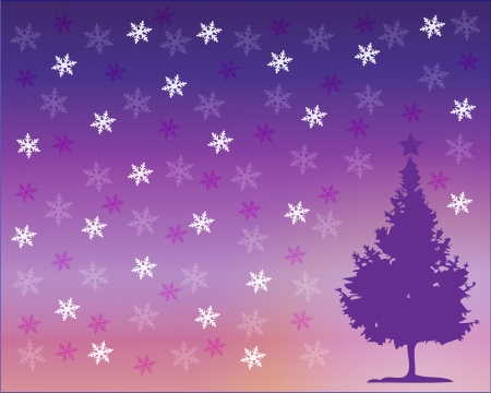 Vector illustration of violet Christmas background vector Stock Illustration - 15616917