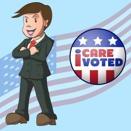 głosowało: Głosowanie pojęcia z mnie to obchodzi i za ikona wektor obraz