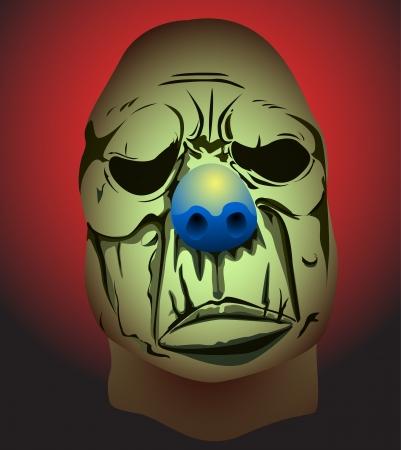 ゾンビのピエロのマスクのベクトル イラスト 写真素材
