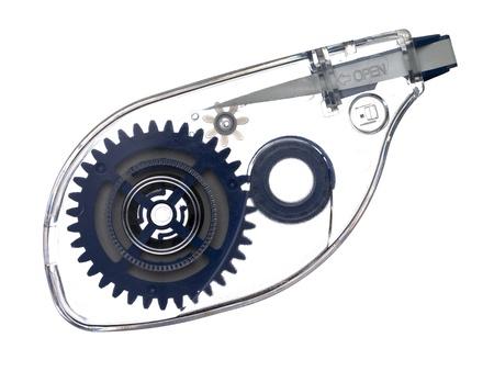Afbeelding van correctie tape roller geïsoleerd op een witte achtergrond