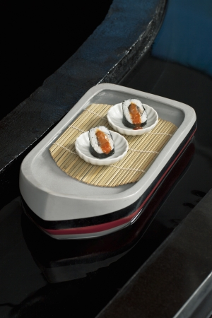 Illustration of Japanese food on a tray