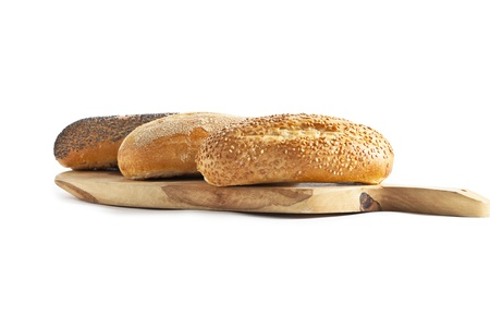Fresh baked breads with sesame seeds Stock Photo - 16210747