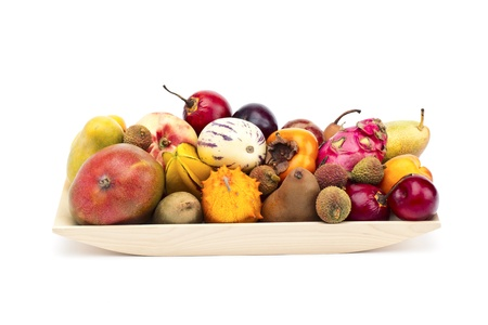 displayed: Image of fruits displayed in a tray