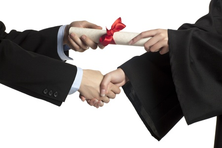 Image of giving diploma in graduation