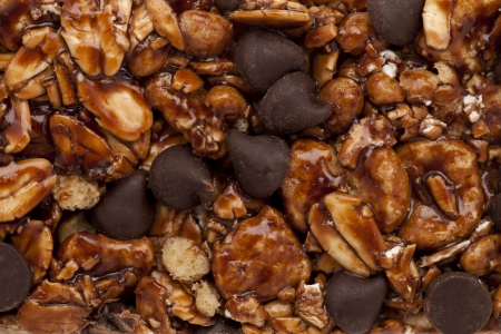 chewy: Macro image of a chewy granola bar as background