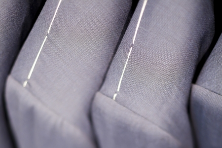 Close-up of grey suits  photo