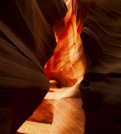 Close-up shot of antelope canyon walls photo
