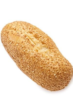 Image of a fresh bread with sesame against white background Stock Photo - 16957624