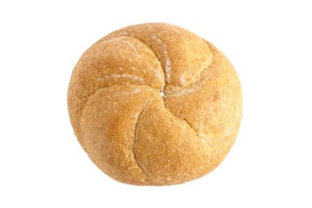 Freshly baked kaiser bun isolated in a  white background Stock Photo - 16957635
